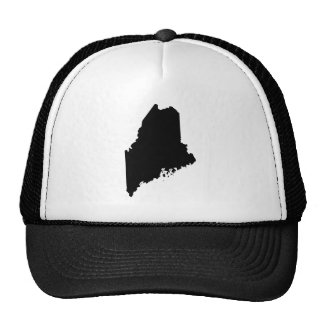 Maine in Black and White Trucker Hat