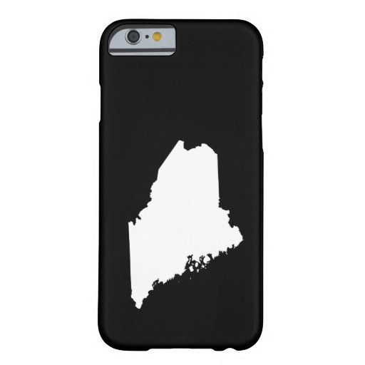 Maine in White and Black iPhone 6 Case
