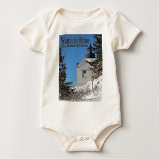 Maine in Winter Baby Bodysuit
