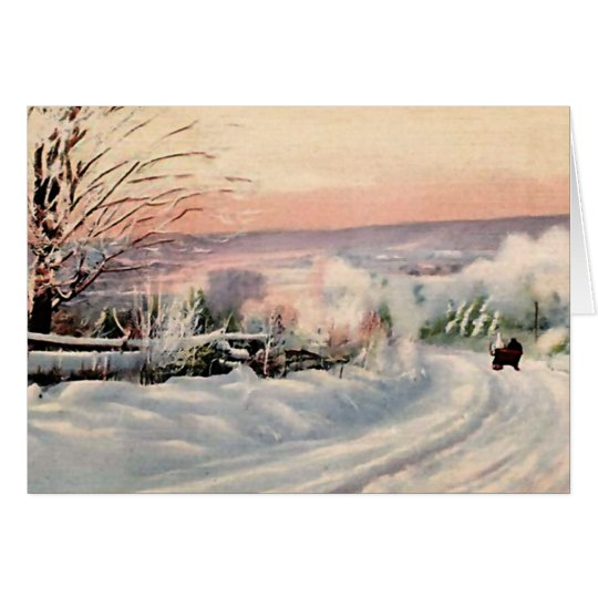 Maine in Winter Card