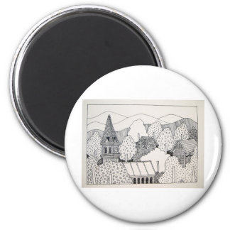 Maine Inking by Piliero 2 Inch Round Magnet