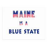 Maine is a Blue State Postcard
