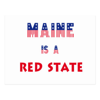 Maine is a Red State Postcard