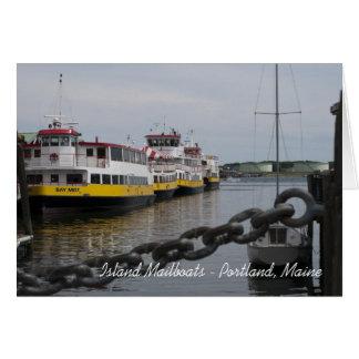 Maine Island Boats Card