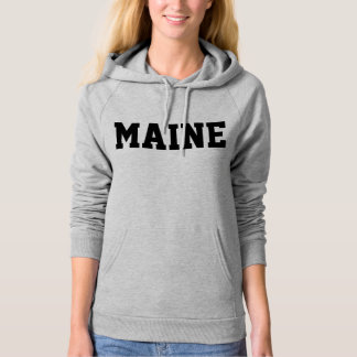 Maine Jersey Font Black.png Hooded Pullover