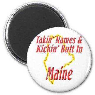 Maine - Kickin' Butt 2 Inch Round Magnet