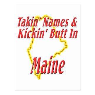 Maine - Kickin' Butt Postcard