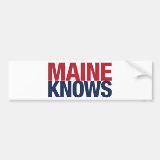 Maine Knows Bumper Sticker