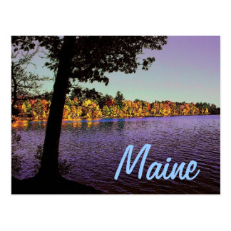 Maine Lake Postcard
