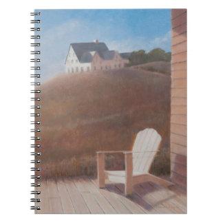 Maine landscape 2012 spiral notebook