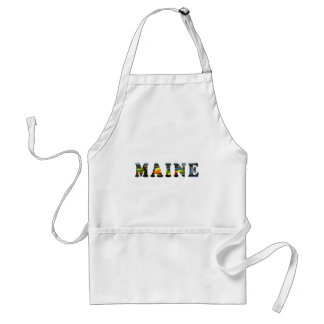 Maine Letters Adult Apron