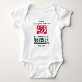 Maine license plate centennial baby bodysuit