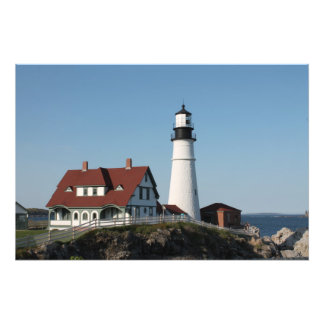 Maine Light House Photographic Print