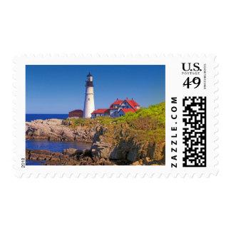 Maine Lighthouse 10 Stamp