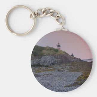 Maine Lighthouse 31 Basic Round Button Keychain