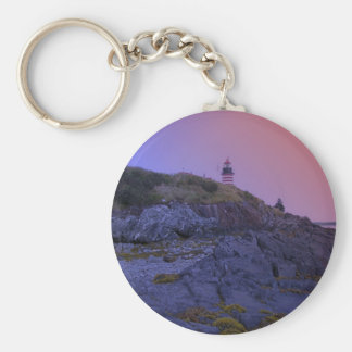 Maine Lighthouse 32 Basic Round Button Keychain