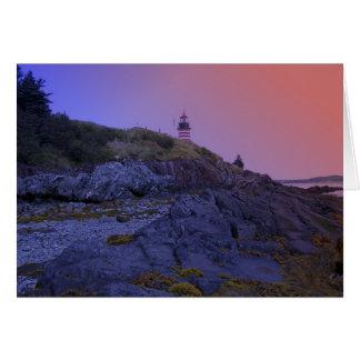 Maine Lighthouse 32 Card