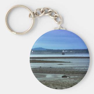 Maine Lighthouse 38 Basic Round Button Keychain
