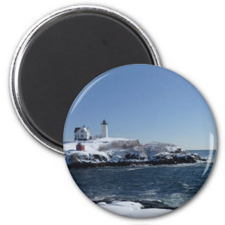 Maine Lighthouse 3 2 Inch Round Magnet