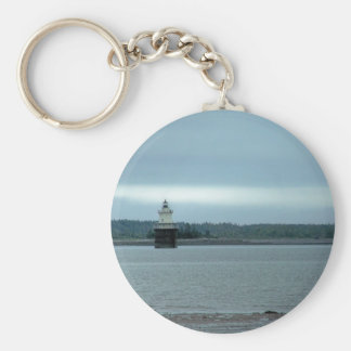 Maine Lighthouse 40 Basic Round Button Keychain