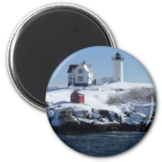 Maine Lighthouse 4 2 Inch Round Magnet