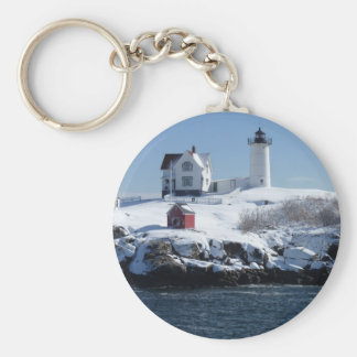 Maine Lighthouse 4 Basic Round Button Keychain