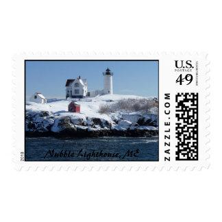 Maine Lighthouse 4 Postage Stamp