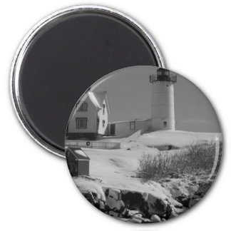 Maine Lighthouse 5 2 Inch Round Magnet