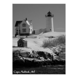 Maine Lighthouse 6 Poster