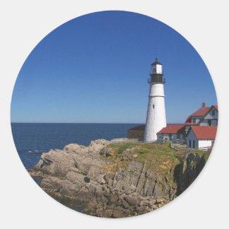 Maine Lighthouse 8 Classic Round Sticker