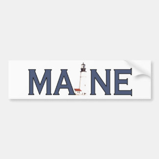 Maine Lighthouse Bumper Sticker