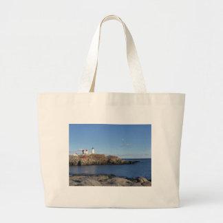 Maine Lighthouse Jumbo Tote Bag