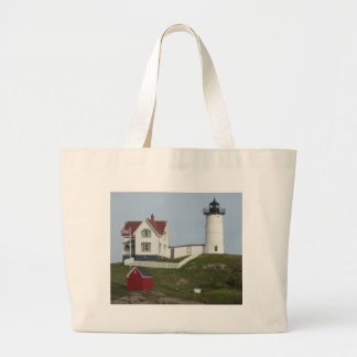 Maine Lighthouse Large Tote Bag