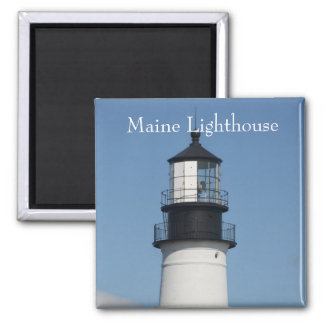 Maine Lighthouse Nautical Gifts 2 Inch Square Magnet
