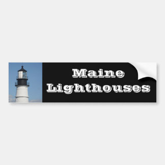 Maine Lighthouse Nautical Gifts Car Bumper Sticker