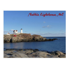 Maine Lighthouse Postcard at Zazzle
