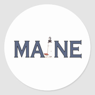 Maine Lighthouse Stickers