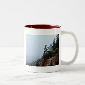 Maine Lighthouse Two-Tone Coffee Mug