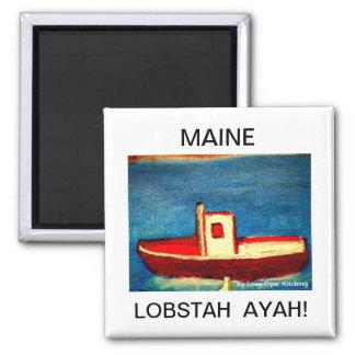Maine Lobstah 2 Inch Square Magnet