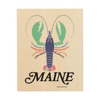 Maine Lobstah Wood Canvas