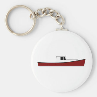 Maine Lobster Boat Keychain