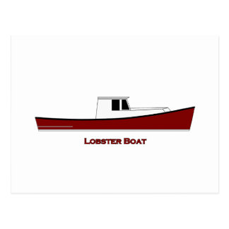 Maine Lobster Boat Postcard