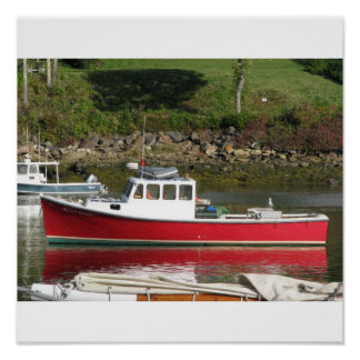 Maine Lobster Boat Print