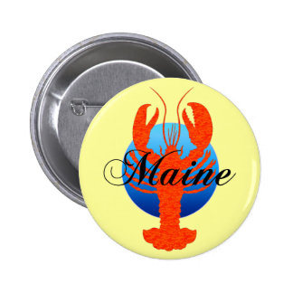 Maine lobster button