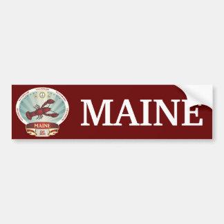 Maine Lobster Crest Car Bumper Sticker