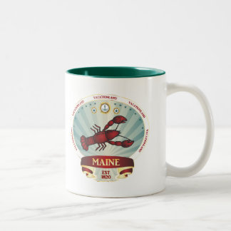 Maine Lobster Crest Coffee Mug