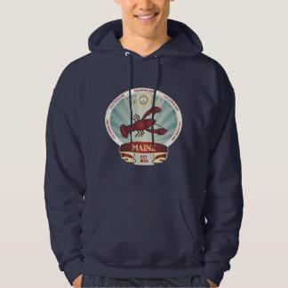 Maine Lobster Crest Hooded Sweatshirts