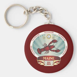 Maine Lobster Crest Keychain