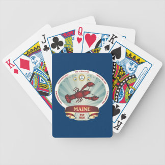 Maine Lobster Crest Playing Cards