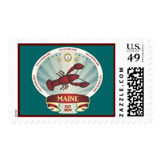 Maine Lobster Crest Postage Stamp